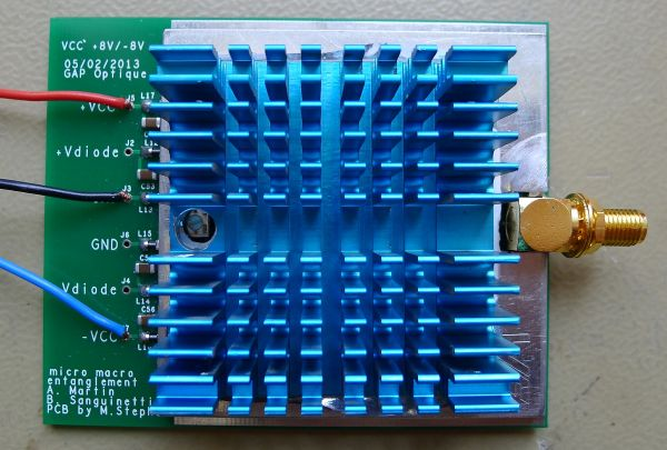 PCB with cabinet and heatsink